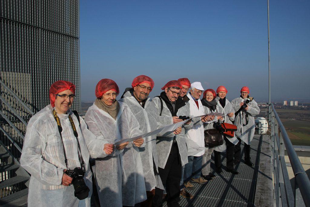 Auf Deutschlands höchsten Getreidesilo: die LG Banden-Württemberg
